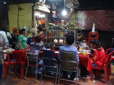 A cafe in the Russian Market, Phnom Phen.