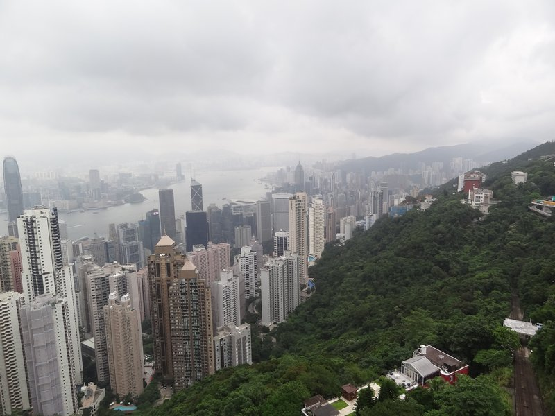 My view from Victoria Peak in Hong Kong