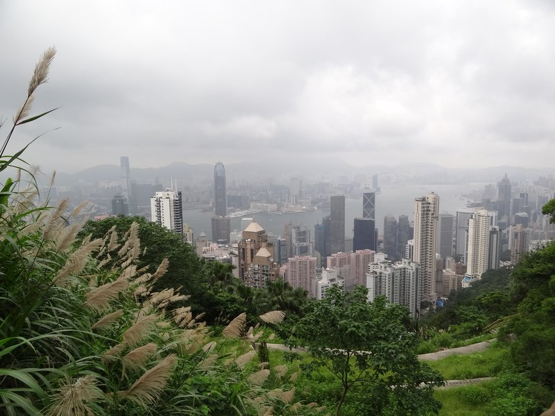 The walk on the way down Victoria Peak