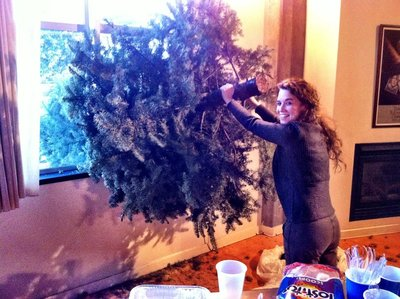 Shoving the Xmas Tree