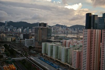 Kowloon Bay in the day