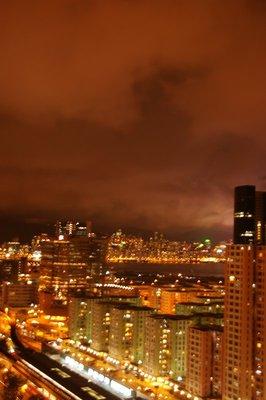 Kowloon Bay at night
