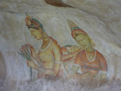 Frescoes in a cave