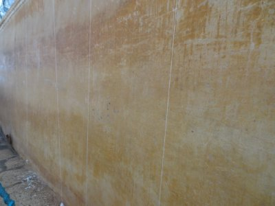 Mirror wall - a plastered wall said to be so well polished in ancient days for use as a mirror