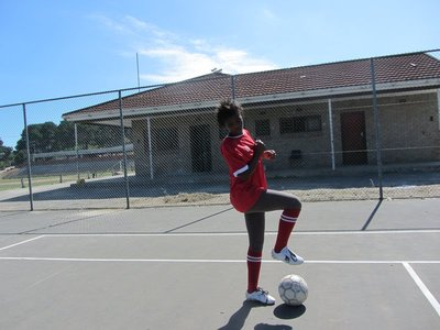 Vuyo, after we fought for her to play!