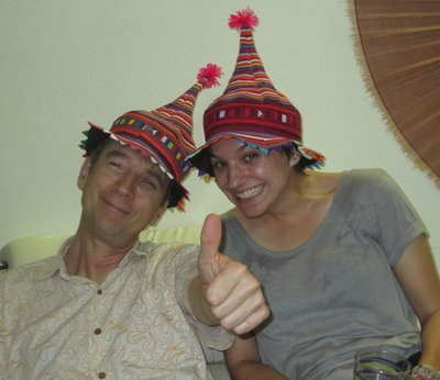 with pip in hats from lao
