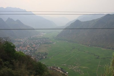 Mai Chau Valley from above