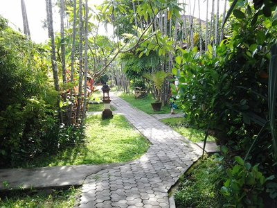 The path to our bungalow, Sanur, Bali.
