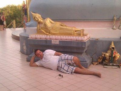 laying wuth buddah