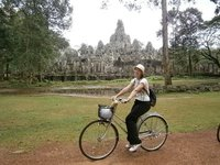 Biking by the Bayon