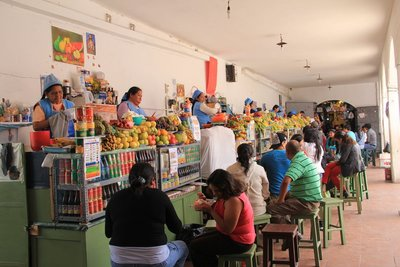 Fruit juice and local food market