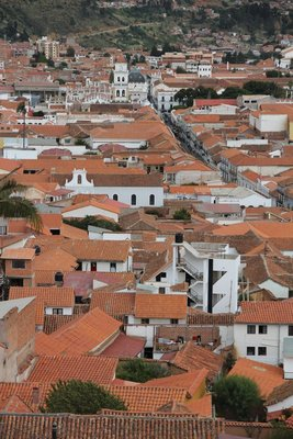 Looking down over Sucre