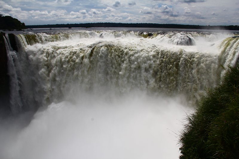 The Devils Throat section of Iguazu Falls