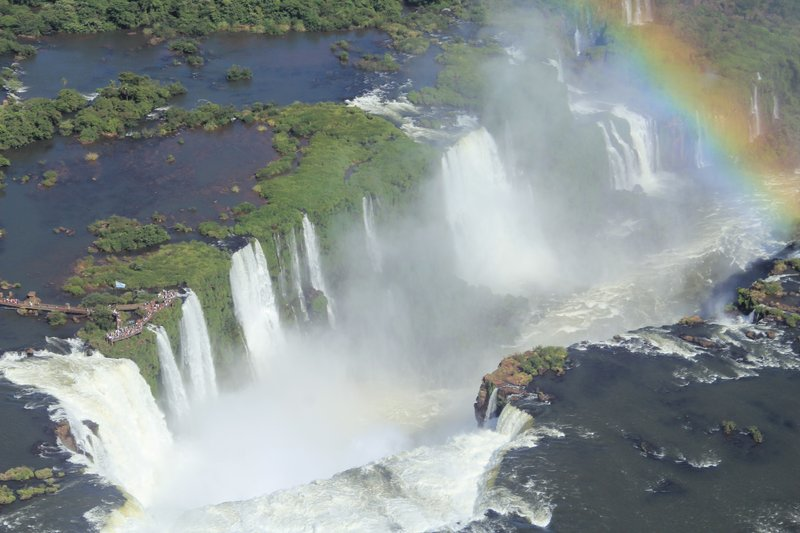 View of Iguazu from the helicopter