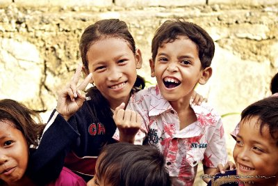 Enfants du Cambodge : sourire