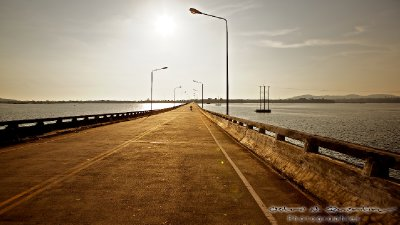Koh Kong view of the bridge