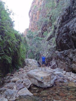 Bethany during our walk through El Questro gorge