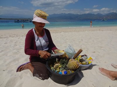 Gili Meno - Pineapple on the beach