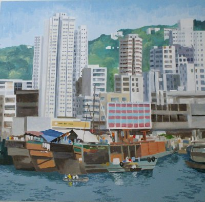 Hong Kong Harbour- by Dale Terry