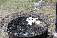 Toasted fresh coconut