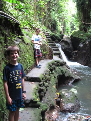 Tom and Ethan Exploring Monkey Forest
