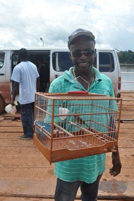 Our driver with his bird