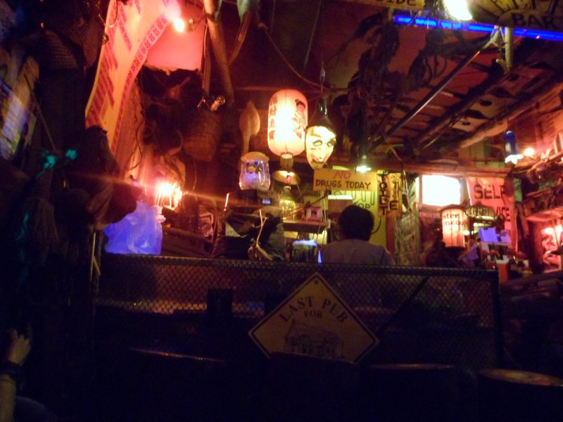 Bar in the evening