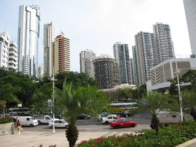 Mini-Manhatten style skyline of Panama