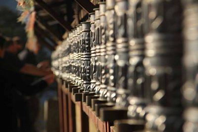 Prayer Wheels Thyangboche