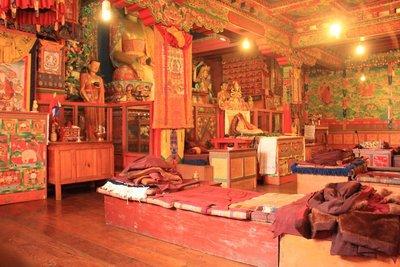 Inside Thyangboche Monestry