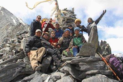 At the top of Kongma La Pass