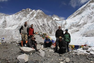 The group at Everest Base Camp