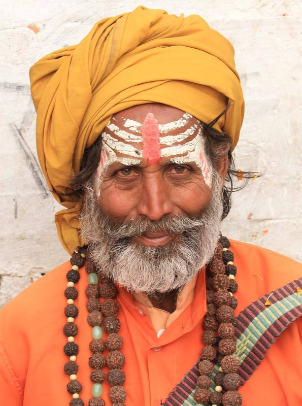 Smiling Sadhu at Pashupatinath