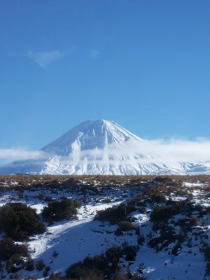 What we THINK is Mount Ruhapeu in Tongariro Park