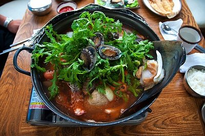Delicious seafood hot pot