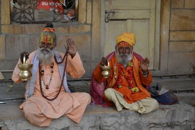 Holy Men at Jaisalmer Fort