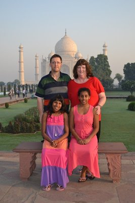 My family at the Taj