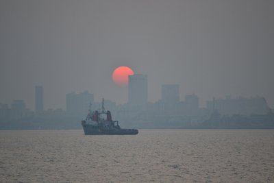 Sunset over Mumbai