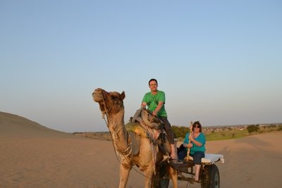 Fiona and Darren with next mode of travel