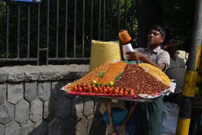 Selling Nuts at Raj Ghat