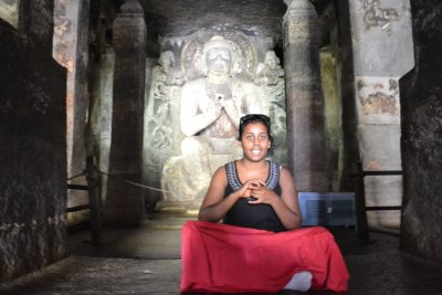 Menaka in Buddhist cave temple