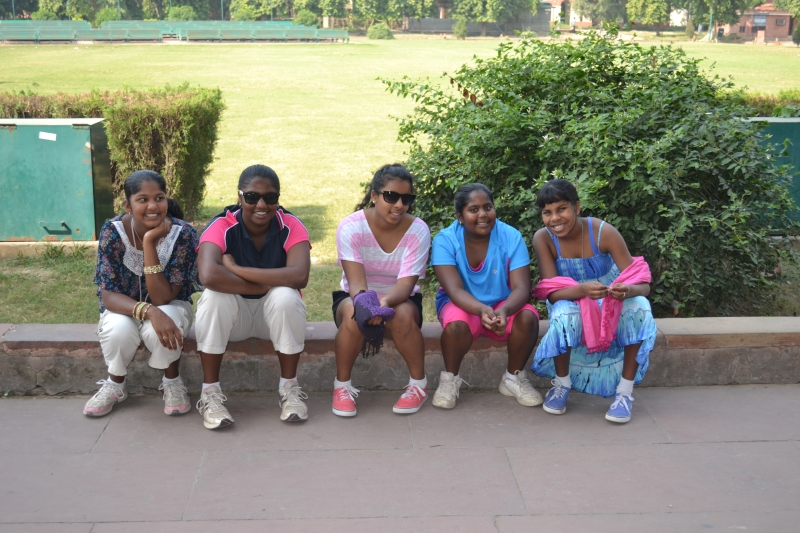 Thorogood and Duffield Girls at Red Fort