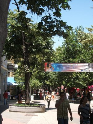 Rayko Daskalov pedestrian street in Plovdiv