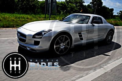 Drive a Mercedes Benz SLS AMG at Cancun in a Private Race Track