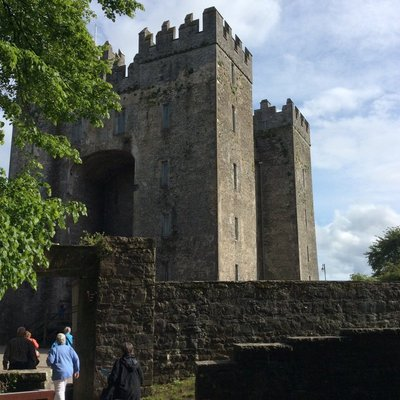 Heading into our medical dinner at Bunratty Castle in Ireland