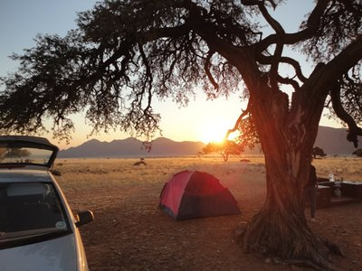 Camping in the Namib