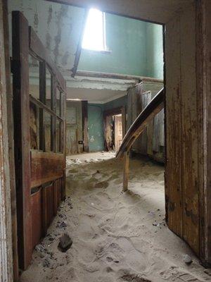 Kolmanskoppe Ghost town, deserted in the '50s
