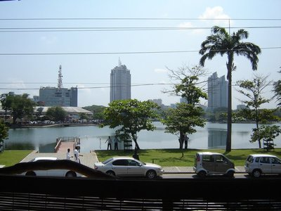 View of South Beira Lake from our apartment