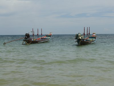 Above: Colourful long-tailed boats.