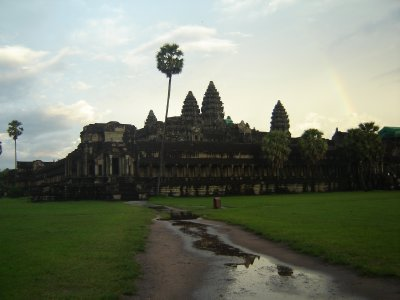 Above: Our first look at Angkor Wat.